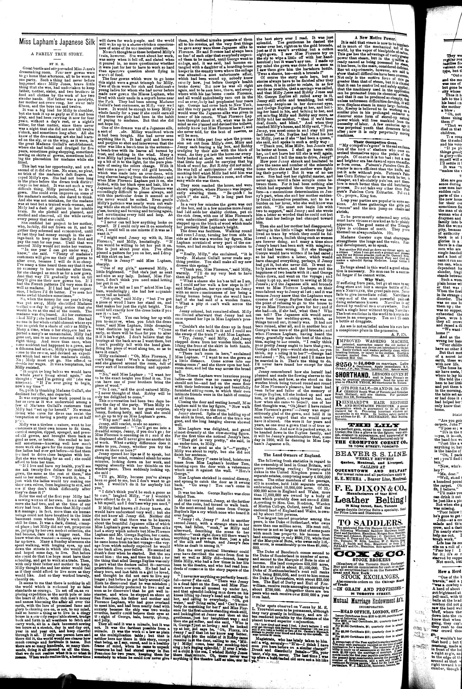 Markdale Standard (Markdale, Ont.1880), 22 May 1884