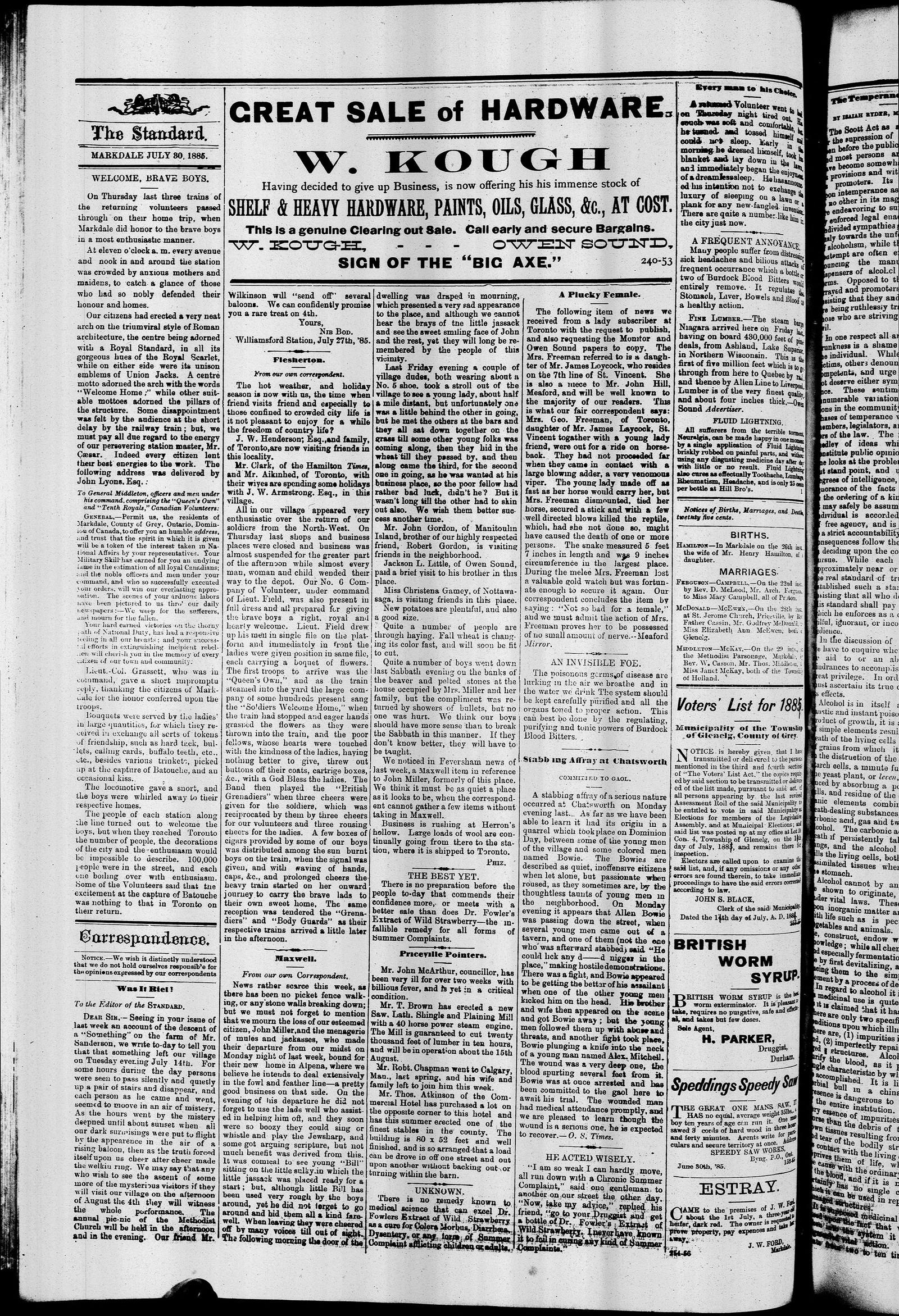 Markdale Standard (Markdale, Ont.1880), 30 Jul 1885