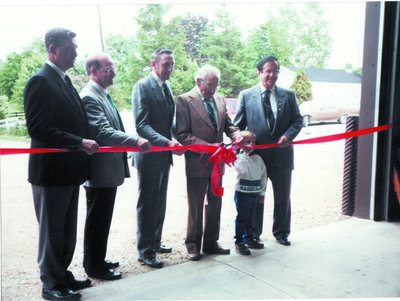 Ribbon Cutting at new Township Shed