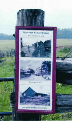 Old Flesherton Railway Station Building Historical Marker