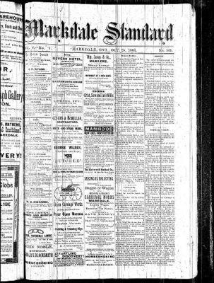 Markdale Standard (Markdale, Ont.1880), 25 Oct 1883