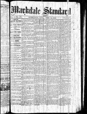 Markdale Standard (Markdale, Ont.1880), 18 Feb 1886