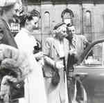 Agnes Macphail getting into a car