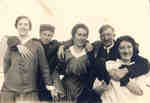 Agnes, Gertha and Lilly McPhail with two unknown men