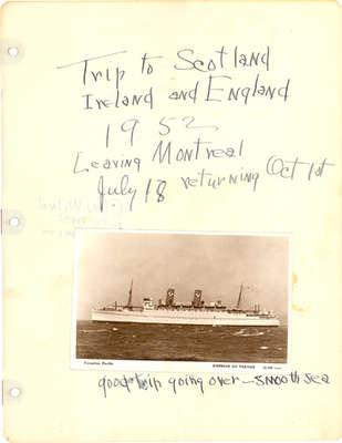 """Trip to Scotland Ireland and England 1952"""