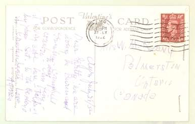 Postcard to Gertha Reany July 29, 1952