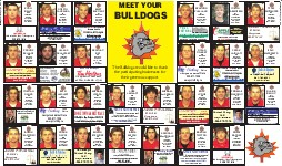 Bulldogs Playoff Preview, page B04 and B05