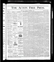 Acton Free Press (Acton, ON)7 Sep 1876