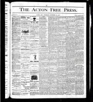 Acton Free Press (Acton, ON), November 30, 1876