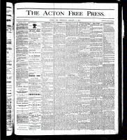 Acton Free Press (Acton, ON), January 11, 1877