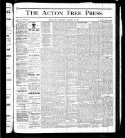 Acton Free Press (Acton, ON), January 25, 1877