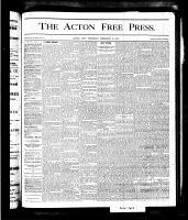 Acton Free Press (Acton, ON), February 8, 1877