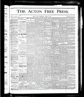 Acton Free Press (Acton, ON), April 5, 1877