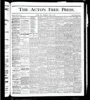 Acton Free Press (Acton, ON), June 7, 1877