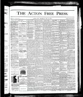 Acton Free Press (Acton, ON), July 12, 1877