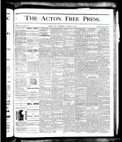 Acton Free Press (Acton, ON), August 9, 1877