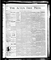 Acton Free Press (Acton, ON), August 23, 1877