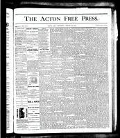 Acton Free Press (Acton, ON), August 30, 1877