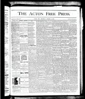 Acton Free Press (Acton, ON)4 Oct 1877