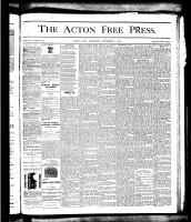 Acton Free Press (Acton, ON), November 1, 1877