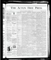 Acton Free Press (Acton, ON), November 8, 1877