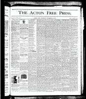Acton Free Press (Acton, ON), November 15, 1877