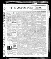 Acton Free Press (Acton, ON)29 Nov 1877