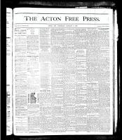 Acton Free Press (Acton, ON), January 3, 1878