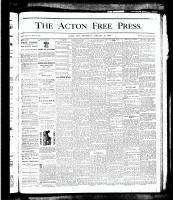 Acton Free Press (Acton, ON), January 10, 1878