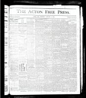 Acton Free Press (Acton, ON), January 17, 1878