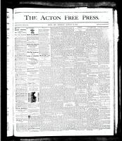 Acton Free Press (Acton, ON), January 24, 1878
