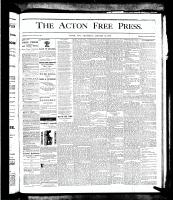 Acton Free Press (Acton, ON), January 31, 1878