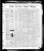 Acton Free Press (Acton, ON), January 31, 1878