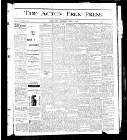 Acton Free Press (Acton, ON)4 Apr 1878