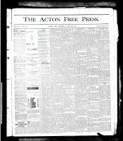 Acton Free Press (Acton, ON), June 20, 1878