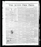 Acton Free Press (Acton, ON), July 25, 1878