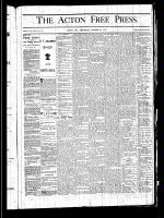 Acton Free Press (Acton, ON), October 24, 1878