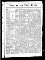 Acton Free Press (Acton, ON), October 31, 1878