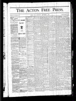 Acton Free Press (Acton, ON), November 7, 1878