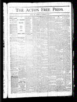 Acton Free Press (Acton, ON), November 28, 1878