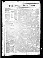 Acton Free Press (Acton, ON), November 28, 1878