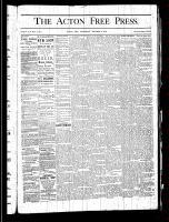 Acton Free Press (Acton, ON), January 2, 1879