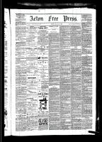 Acton Free Press (Acton, ON)8 Jan 1880