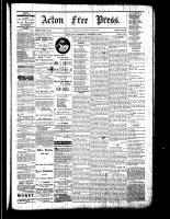 Acton Free Press (Acton, ON), October 13, 1881