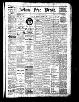 Acton Free Press (Acton, ON), October 20, 1881