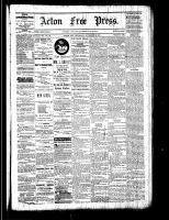 Acton Free Press (Acton, ON), November 3, 1881