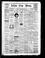 Acton Free Press (Acton, ON), November 24, 1881