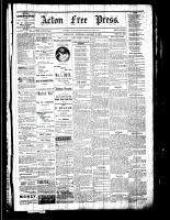 Acton Free Press (Acton, ON), January 5, 1882