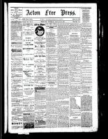 Acton Free Press (Acton, ON), January 26, 1882