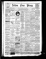 Acton Free Press (Acton, ON), March 2, 1882